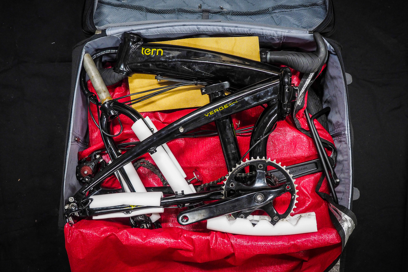 Packing A Tern Verge S27h Folding Bicycle Into A Suitcase